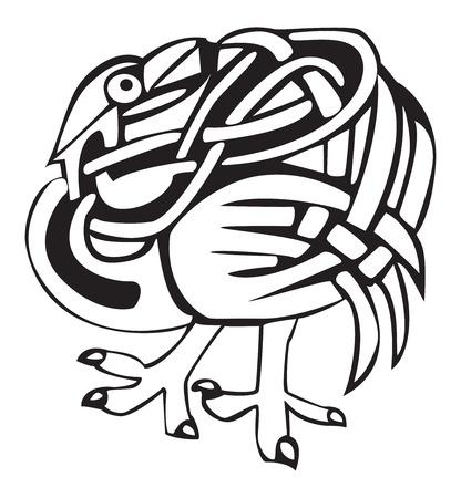 bird  celtic: Celtic bird design