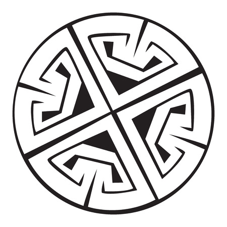 artistry: A illustration of a Celtic pattern and knots with a beautiful design, isolated on white