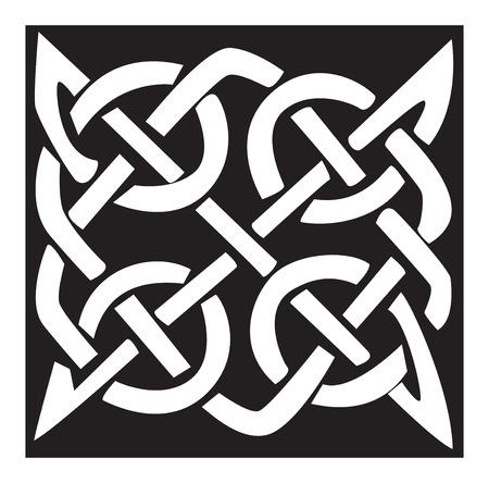 celtic pattern: Celtic pattern and knot Illustration