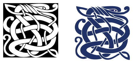 symbol: Complex Celtic symbol great for tattoo. Can be fully modified and scaled. Vector, can easily change its colors