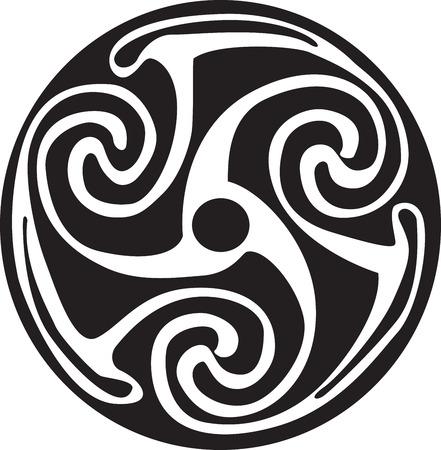 Complesso simbolo celtico grande per il tatuaggio. Può essere completamente modificato e ridimensionato. Vector, può facilmente cambiare i suoi colori Archivio Fotografico - 38577145