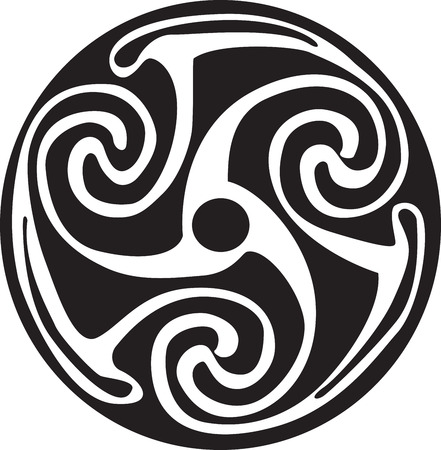 Complex Celtic symbol great for tattoo. Can be fully modified and scaled. Vector, can easily change its colors