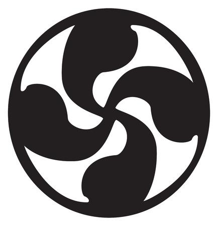 Zonne-kruis tattoo artwork volledige vector