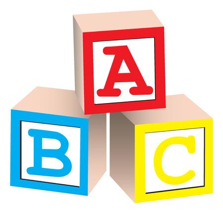 chi: Alphabet Blocks Illustration