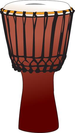 vectorized: Tambor de la percusi�n Vectorized - djembem tam-tam