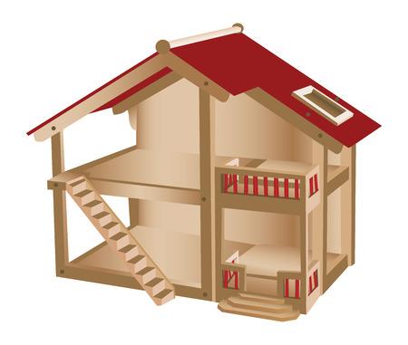 子供のための小さな劇場  イラスト・ベクター素材