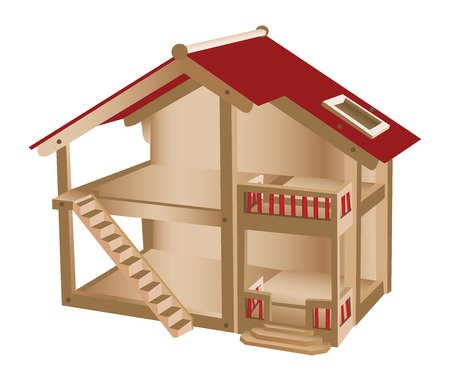 Kleine speelhuisje voor kinderen