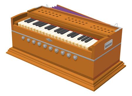 Vector illustratie van de harmonium.