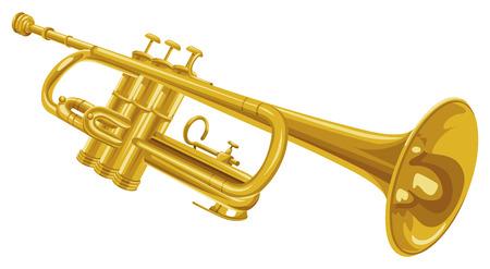 brass instrument: Vector illustration of trumpet.