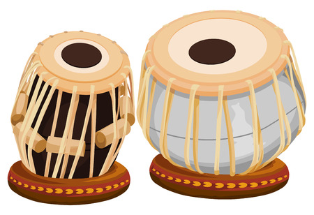 india culture: Vector illustration of hand drum.