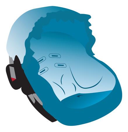 car seat: Car seat illustration