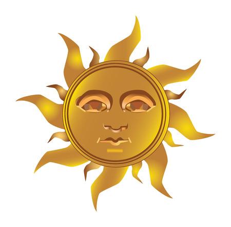 Maya soleil inca - Maya, vecteur