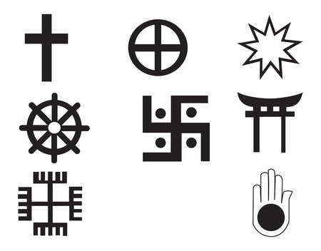 christianism: Different religions symbols