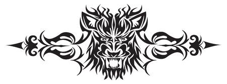 Conception de tatouage du visage de lion, illustration vintage gravé. Banque d'images - 37604239