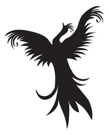 tattoo drawings: Tattoo design of flying bird, vintage engraved illustration. Illustration