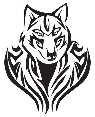 Tattoo design of fox, vintage engraved illustration. Vector