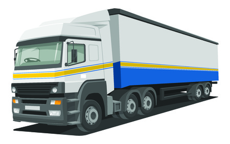 lading: Vector illustration of heavy delivery truck.