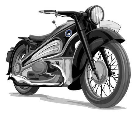 exhaust pipe: Vector illustration of a motorcycle.