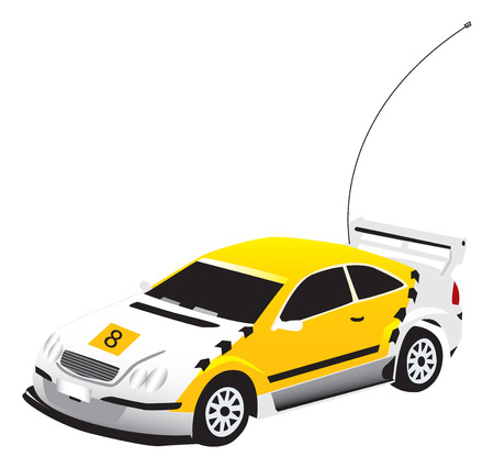 vectorized: A vectorized yellow toy car