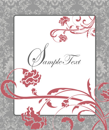 place for text: Damask flower background with place for text