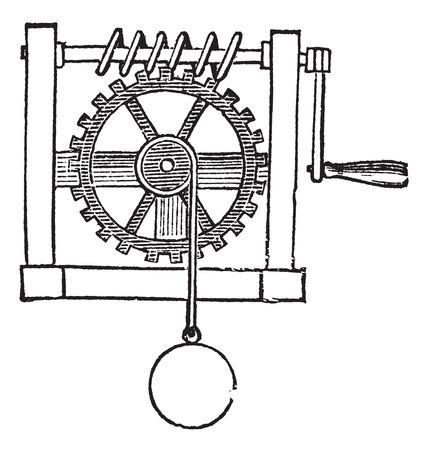 Gears, vintage engraved illustration Illustration