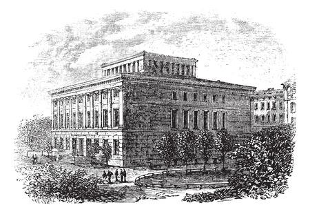 Old engraved illustration of university of Halle-Wittenberg,1800s Ilustrace