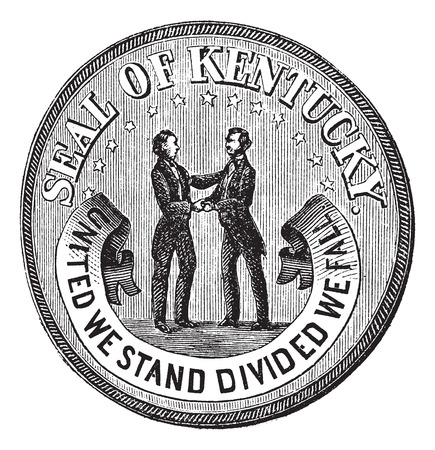 Old engraved illustration of Seal of the State of Kentucky