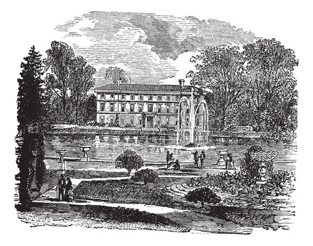 Old engraved illustration of The Royal Botanic Garden Illustration