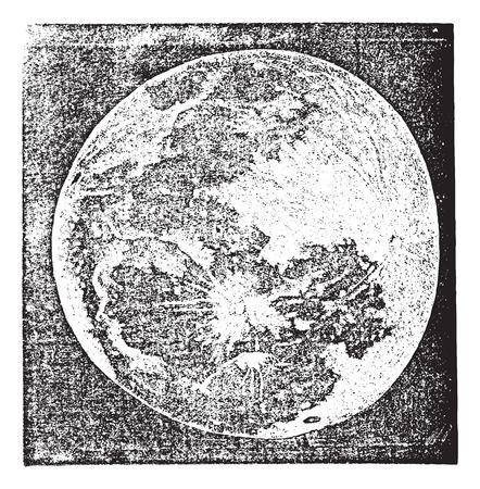 Oude gegraveerde illustratie van de Foto van Full Moon.