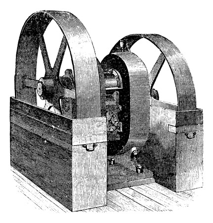 generator: Mill, vintage engraved illustration Illustration