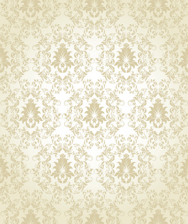 royal background: Vintage background with ornate elegant abstract floral design, gray on shiny gray. Vector illustration.