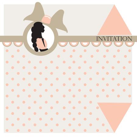 baby girl: Baby girl arrival card - vector illustration Illustration