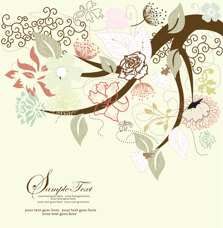 arbor: Abstract tree with floral elements