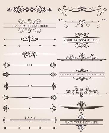 Vintage Labels Rahmen- und Hintergrundelemente mit kunstvollen eleganten Retro-abstrakten Blumenmuster, dunkelgrau Blumen und Blätter auf hellgrauem Hintergrund. Vektor-Illustration. Standard-Bild - 38094847