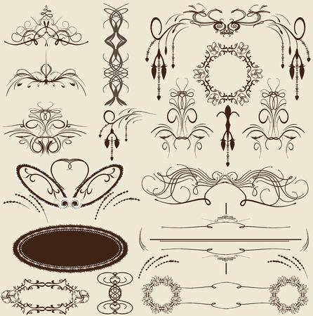 gothic design: Set of vintage vector elements