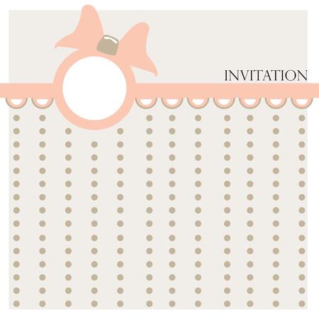 arrival: Baby girl arrival card - vector illustration Illustration
