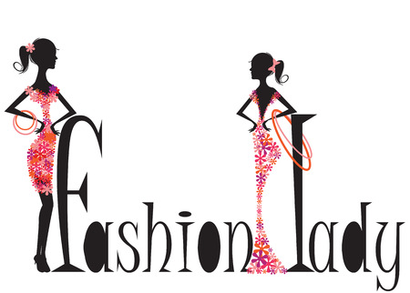 boutique display: Fashion woman illustration