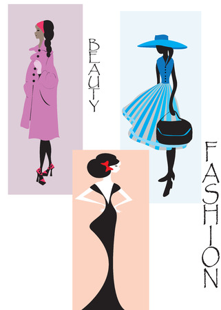clothed: Woman fashion design. Vector illustration