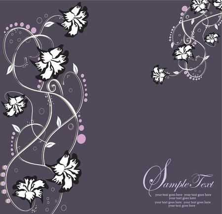 flowers background: Fondo de flores abstracto con lugar para el texto  Vectores