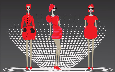 boutique display: Fashion Women illustration Illustration