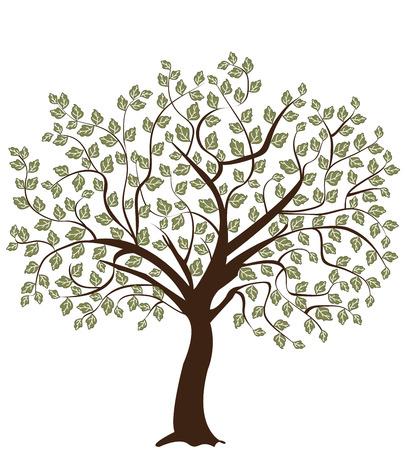 hojas de arbol: Árbol de silueta
