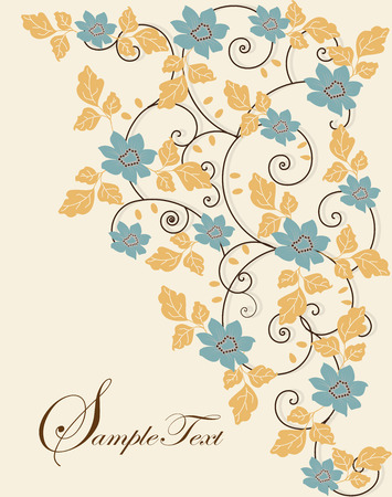place for text: Spring floral background with place for text