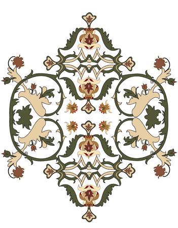 Vintage emblem with floral elements Illustration