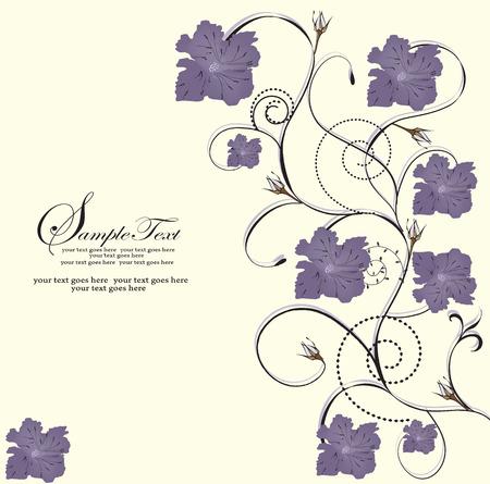 esquineros de flores: Primavera floral fondo con el lugar de su texto  Vectores