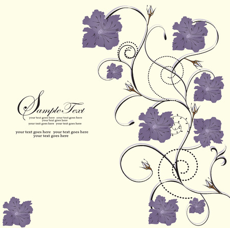 design: Spring floral background with place for your text Illustration