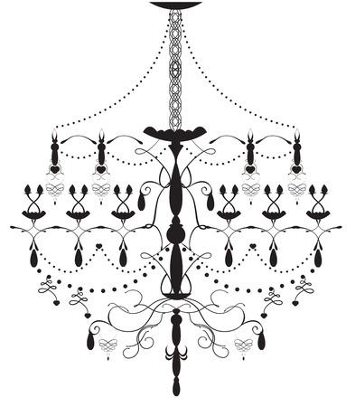 eleg�ncia: Eleg�ncia lustre antigo Ilustra��o