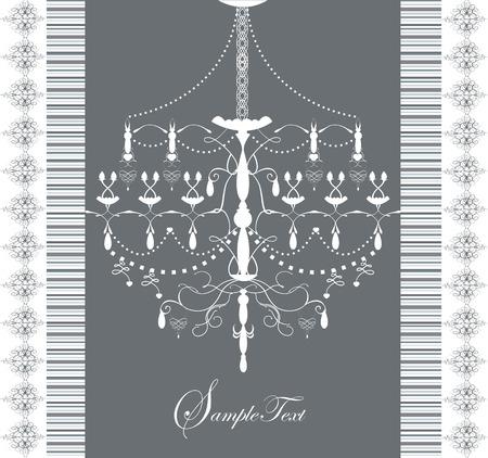 border frame: Elegance vintage illustration