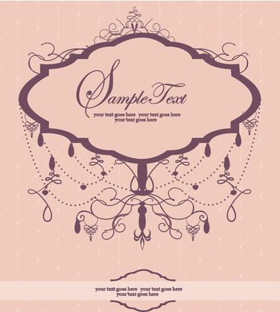 chandelier: Invitation card with chandelier