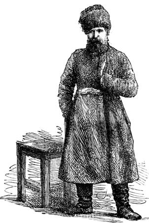 supervisor: The supervisor, vintage engraved illustration. Journal des Voyage, Travel Journal, (1879-80). Stock Photo