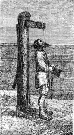 peasant: Struzzo peasant came to Riga, Le Tour du Monde, Travel Journal, (1865). Stock Photo